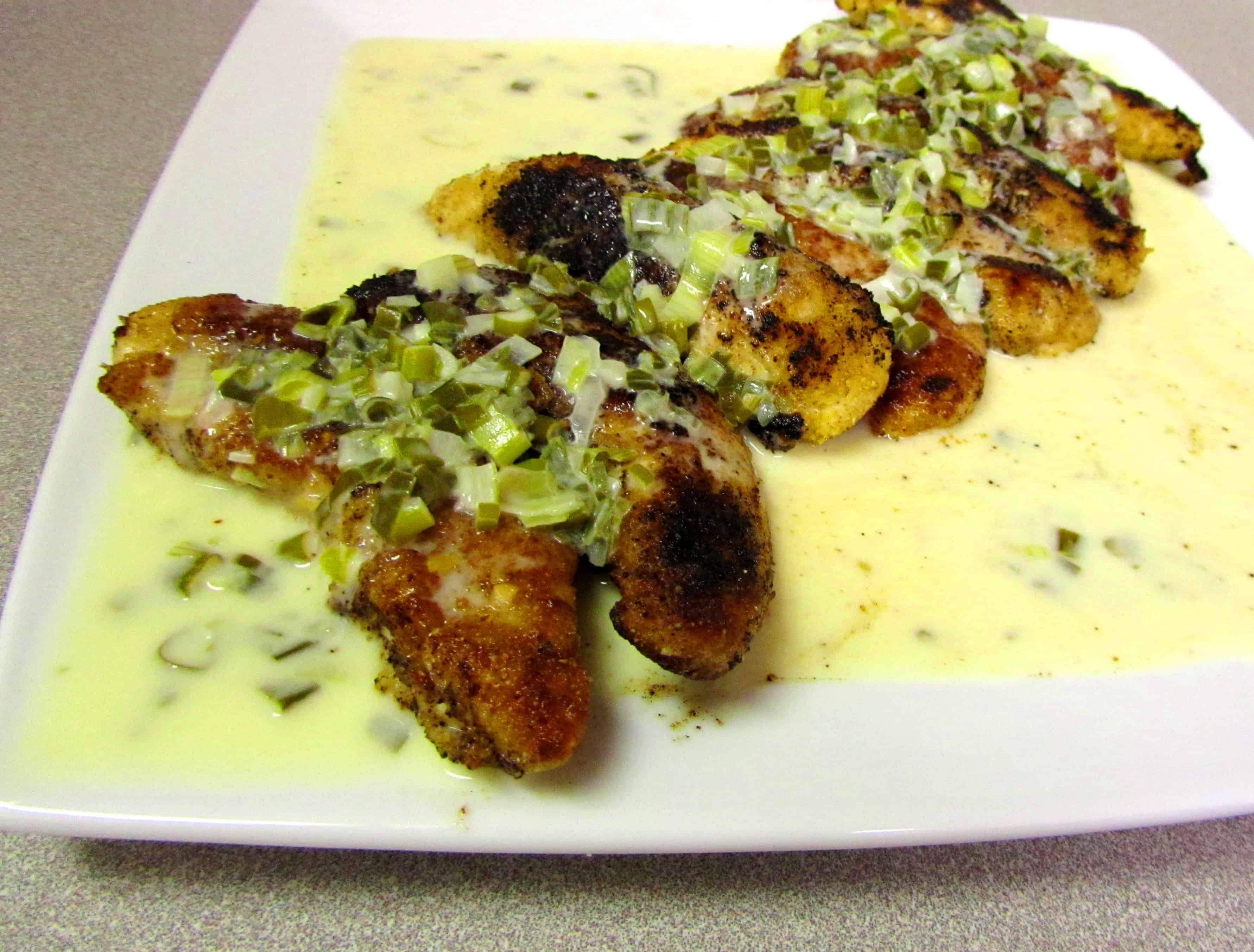 almond crusted chicken with scallion beurre blanc | the spiffy cookie