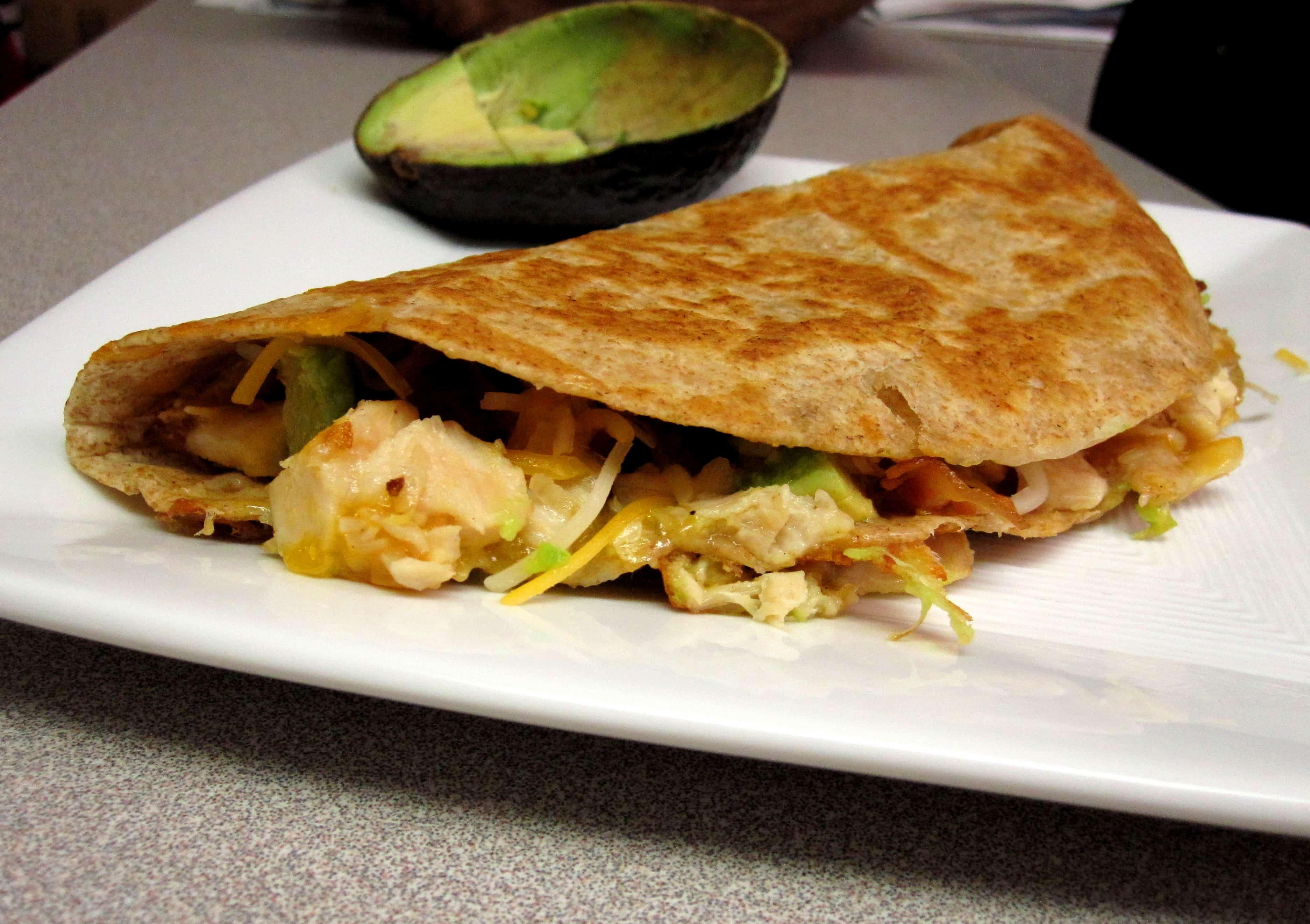 Cheesy Chicken, Bacon & Avocado Quesadillas | The Spiffy Cookie