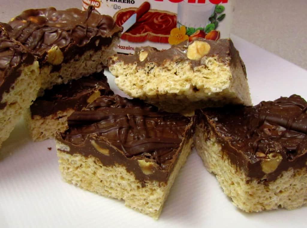 Nutella Krispie Treats Recipe — Dishmaps