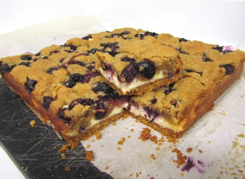 Blueberry Blondie Cheesecake Bars