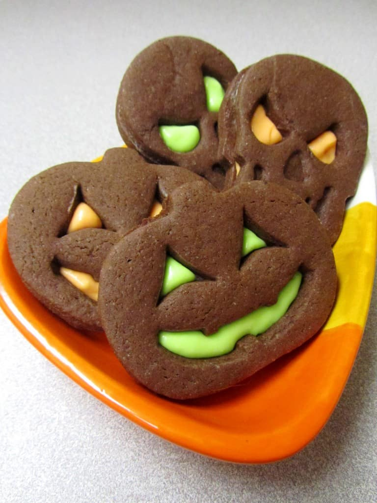 Halloween Brownie Roll Out Cookie Sandwiches   The Spiffy Cookie