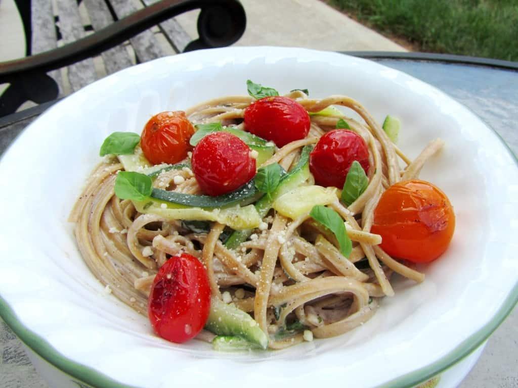 Zucchini Ribbon Pasta with Creamy Lemon-Basil Sauce | The ...