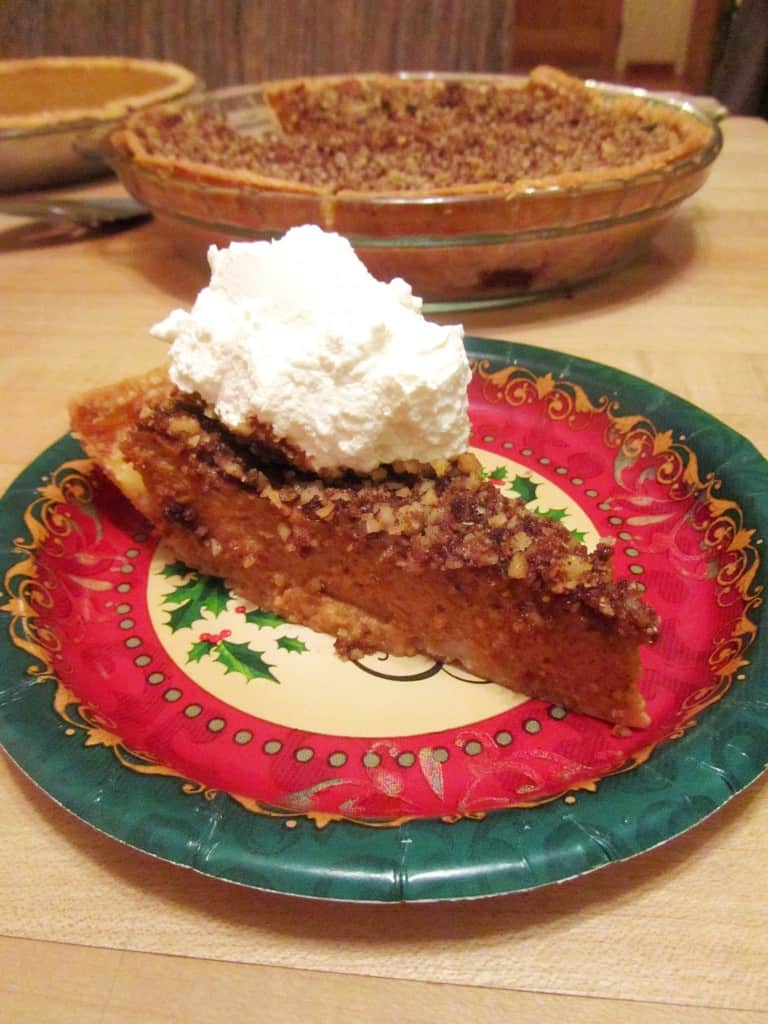 Pumpkin Pie with Brown Sugar-Walnut Topping | The Spiffy Cookie