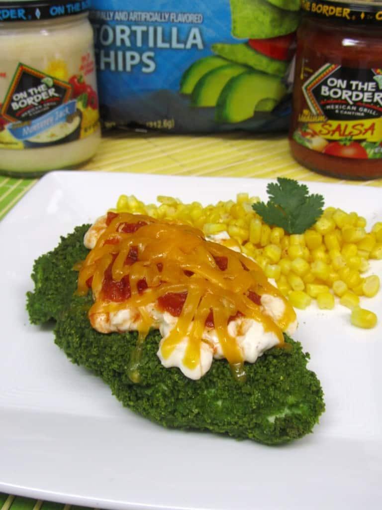 Guacamole Tortilla Chip-Crusted Nacho Chicken