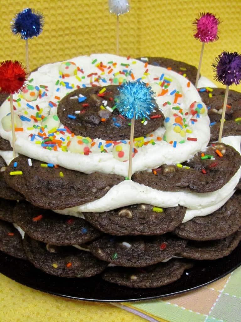 Chocolate Funfetti Cookie Stack Cake 2