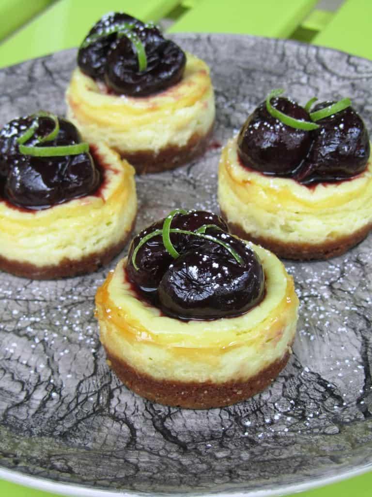 Mini Cherry-Lime Greek Yogurt Cheesecakes & Chobani Giveaway | The ...