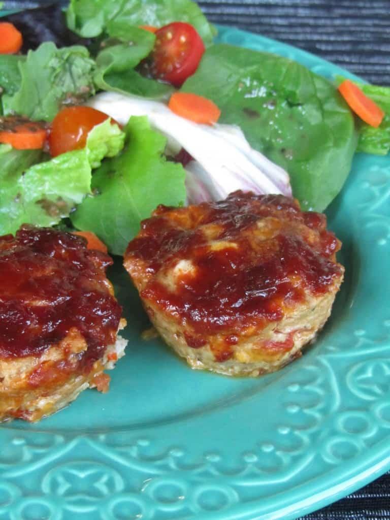 Cheddar-BBQ Turkey Meatloaf Muffins 1