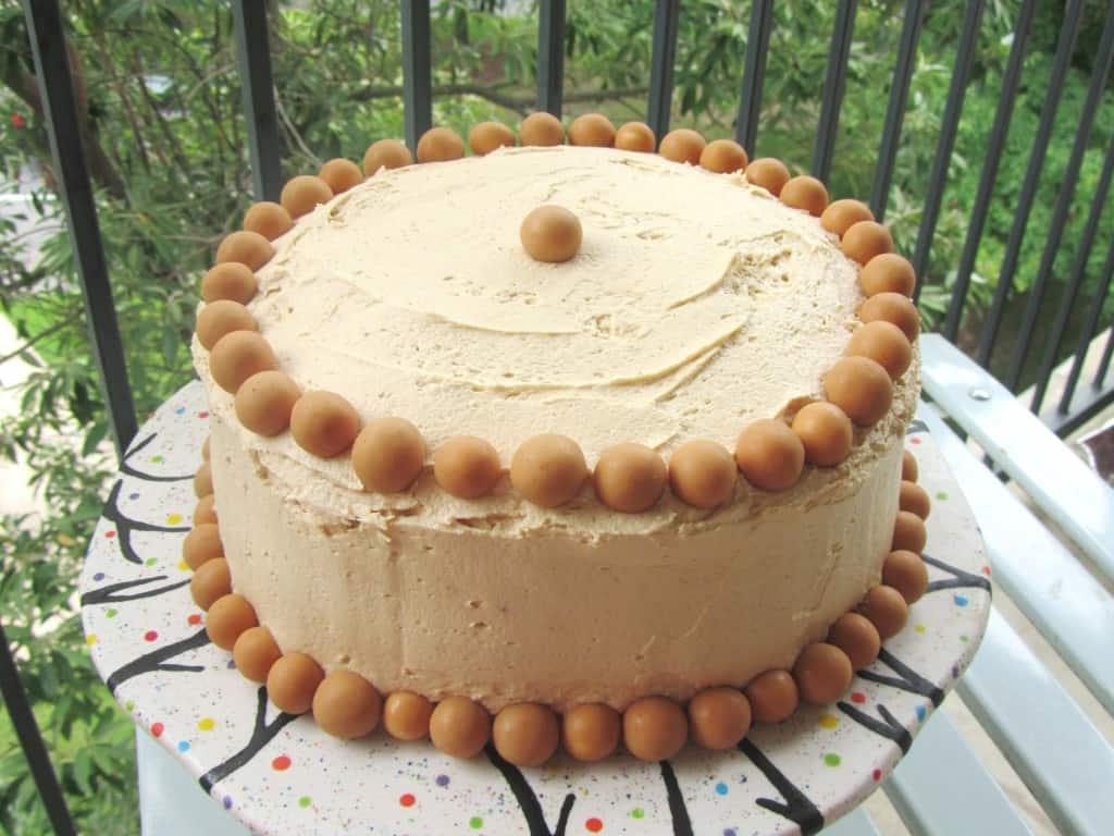Marble Malt Cake with Peanut Butter Malt Frosting 1
