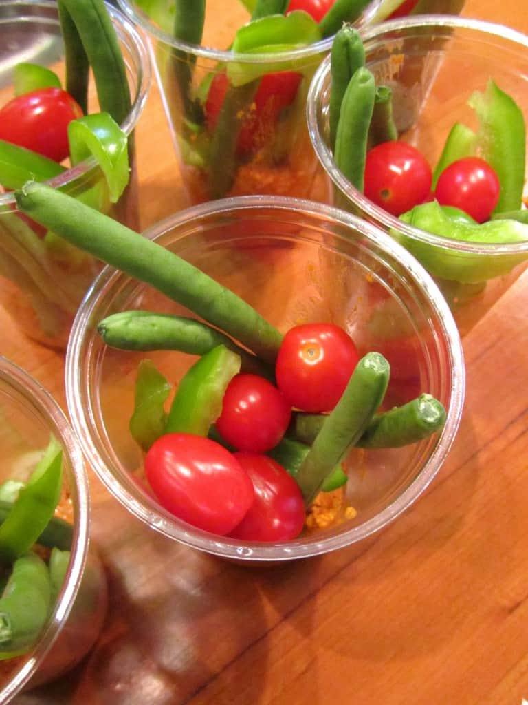 Veggie Dip Cups 2
