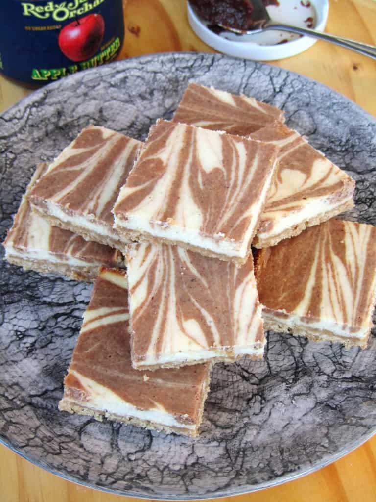 Apple Butter Swirl Cheesecake Bars 2