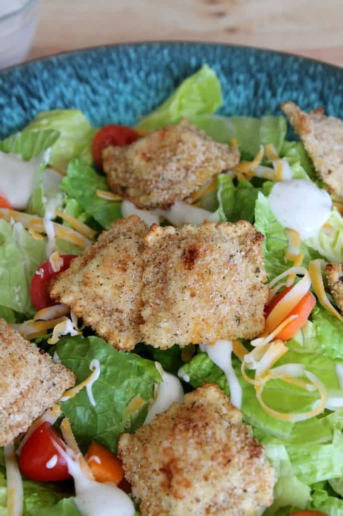 Oven-Fried Mac and Cheese Ravioli Salad 2