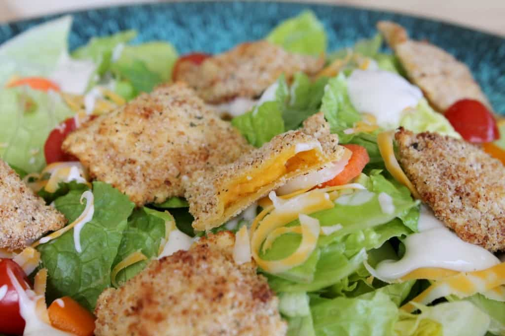 Oven-Fried Mac and Cheese Ravioli Salad 3