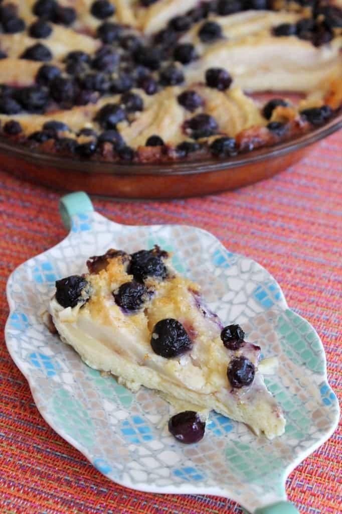 Crustless Ginger Blueberry-Pear Pie 3