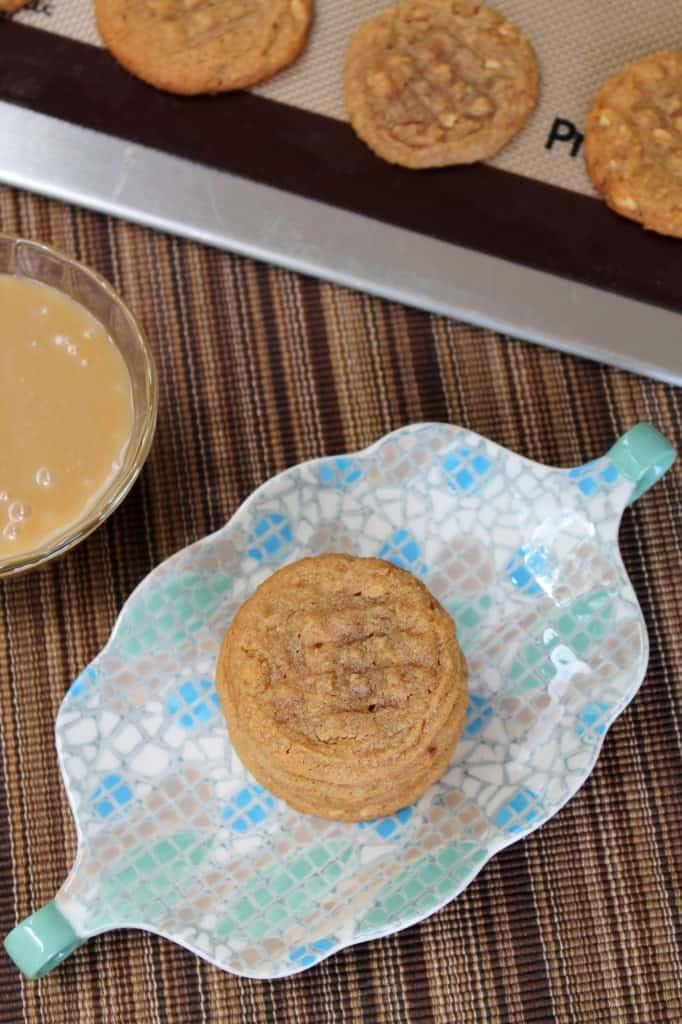 Gluten-Free Salted Caramel Peanut Butter Cookies 1