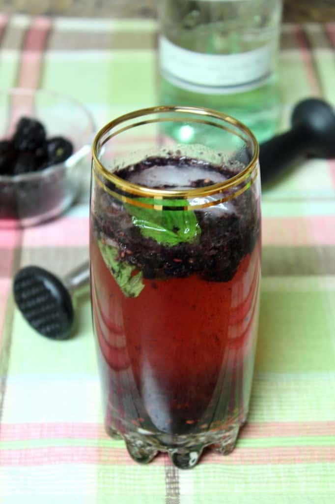 Blackberry Basil Sparkler