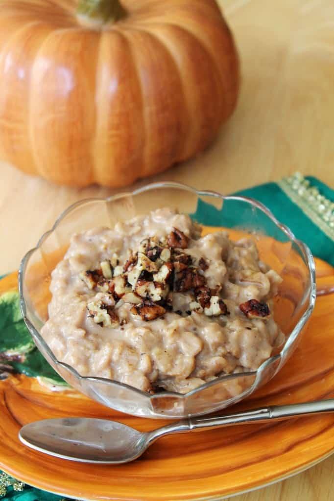 Pumpkin Pecan Oatmeal #PumpkinWeek