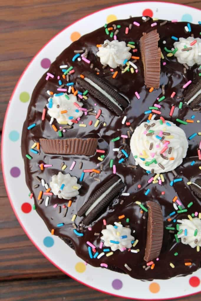 Reese S Oreo Chocolate Cake With Funfetti Cookie Dough