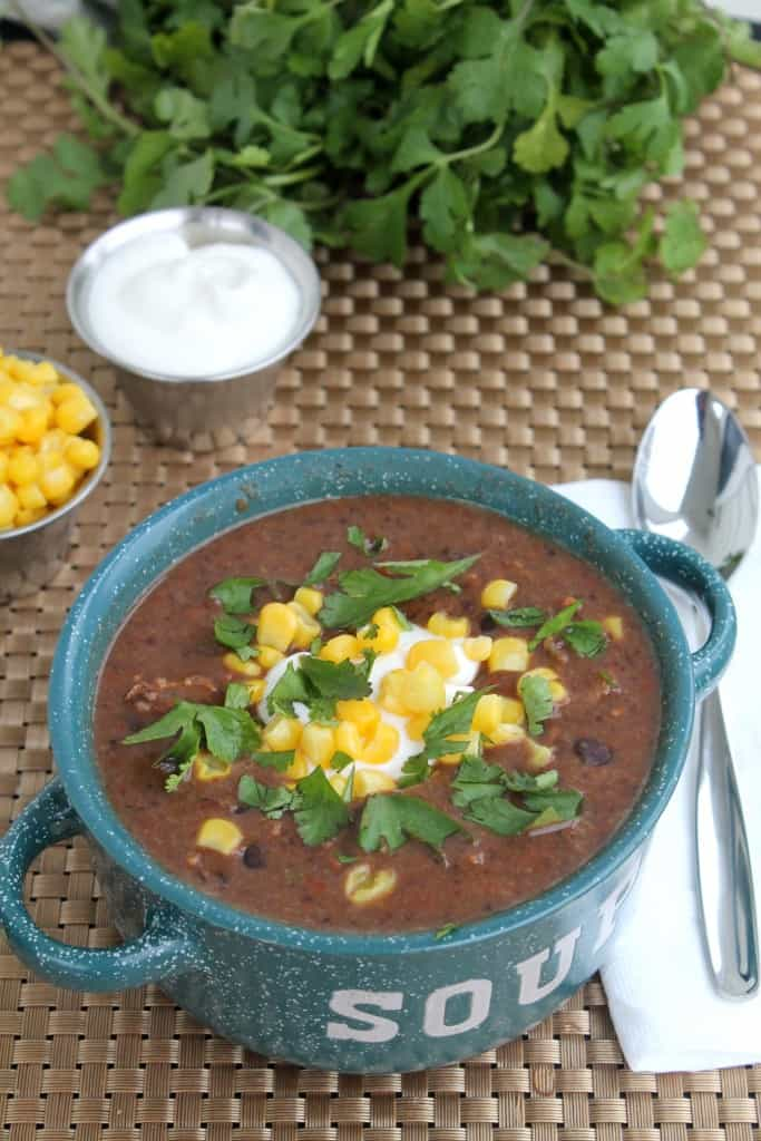 Black Bean & Chorizo Soup 1