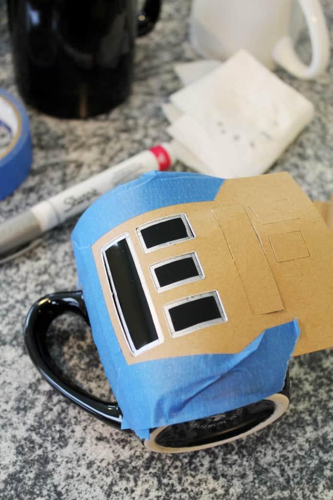 DIY Painted Mugs 3