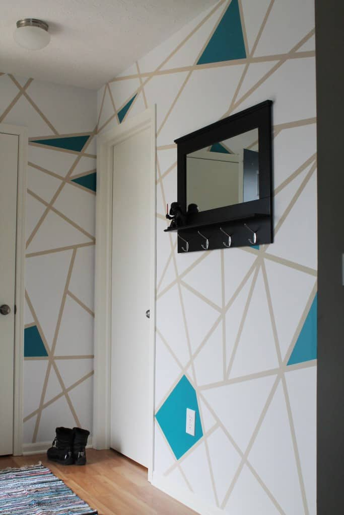 Diy Painter S Tape Accent Wall The Spiffy Cookie