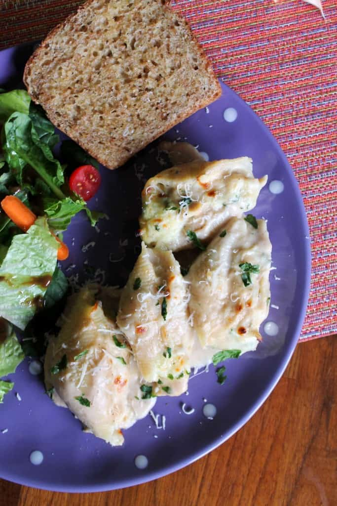 Garlic-Parmesan Chicken Stuffed Shells for Two 3