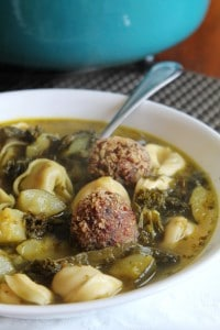 Italian Wedding Soup with Veggie Balls 1