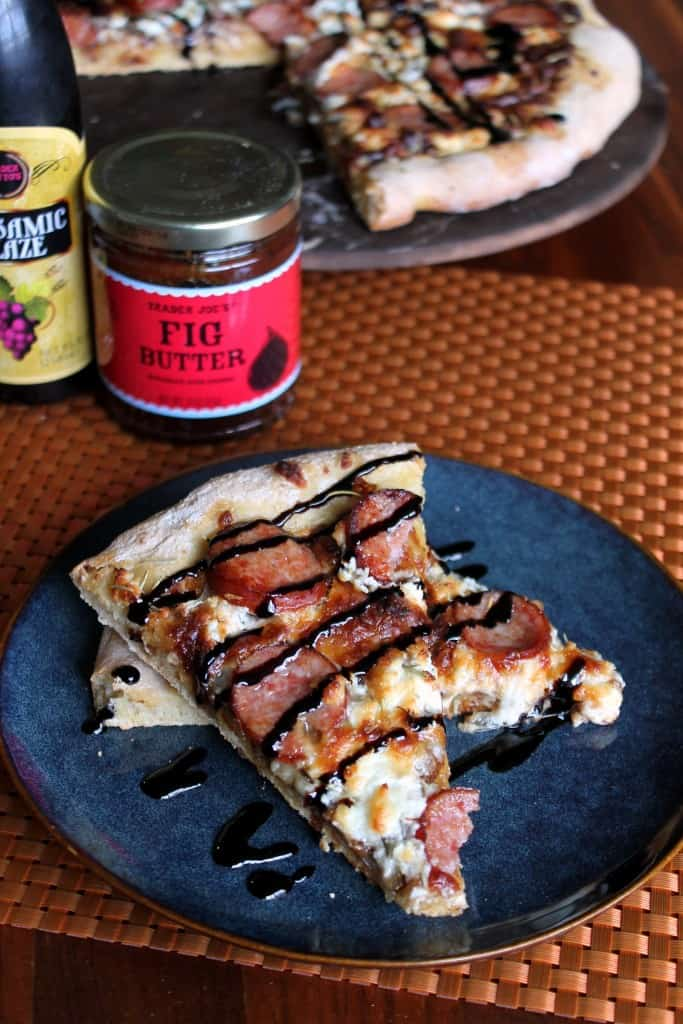 Fig Goat Cheese And Kielbasa Sausage Pizza The Spiffy