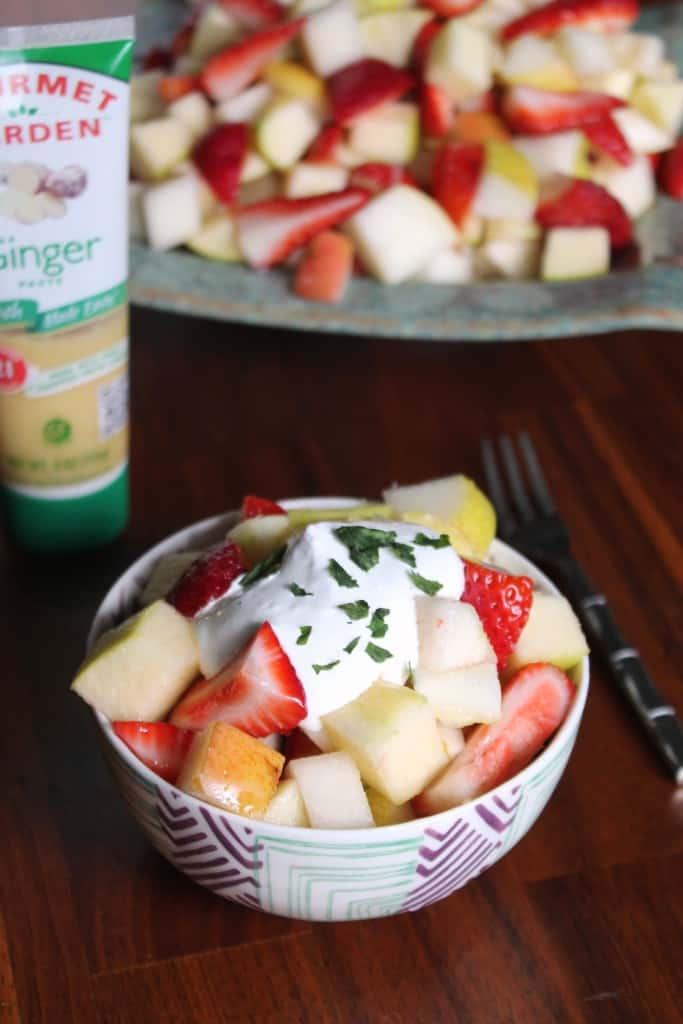 Boozy Ginger-Lemon Fruit Salad 1
