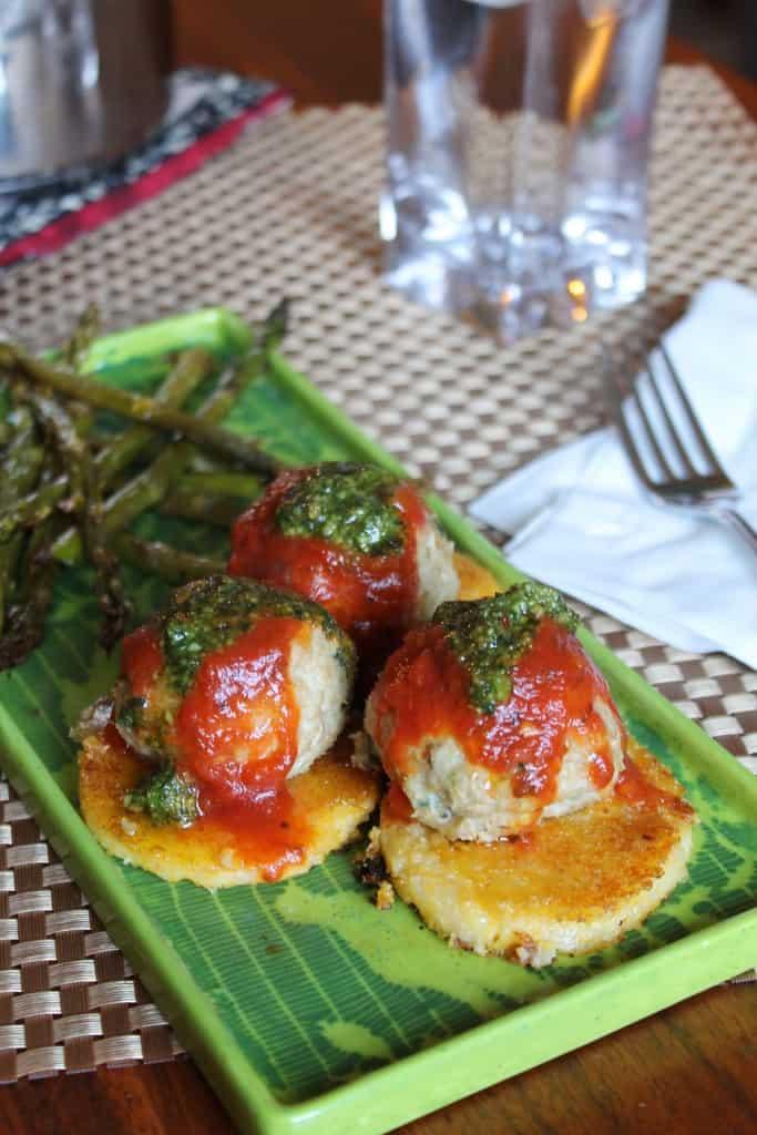 Chicken Parmeatballs & Crispy Polenta 1
