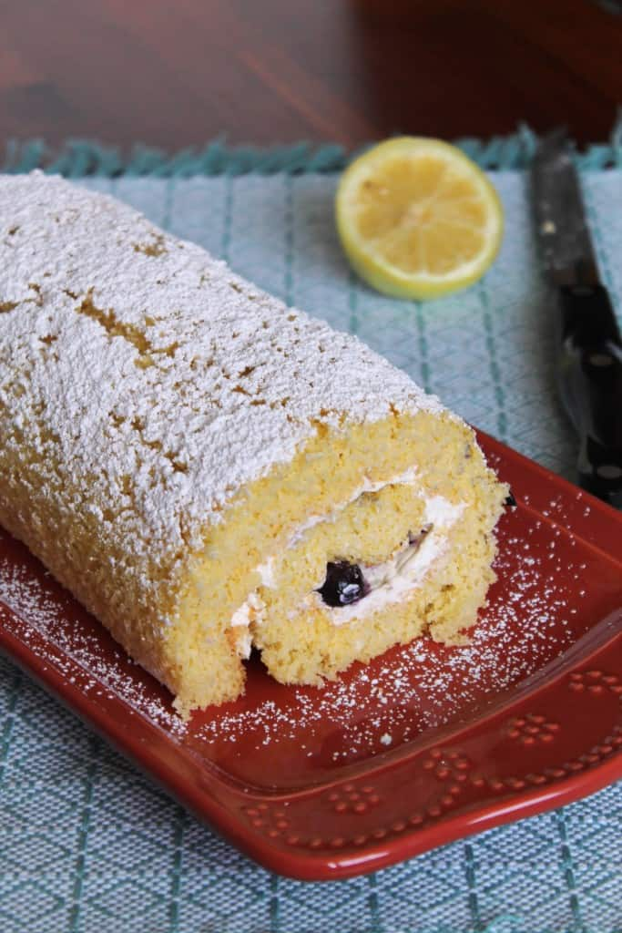 Lemon and Blueberry Roulade 1