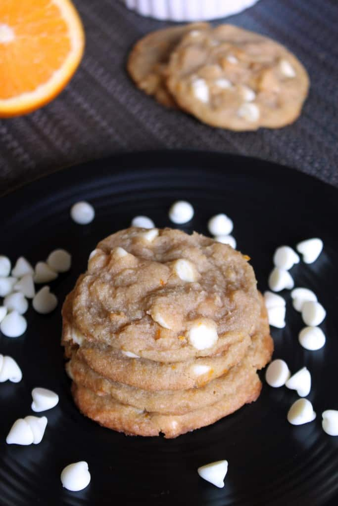White Chocolate Chip Orange Creamsicle Cookies | The Spiffy Cookie