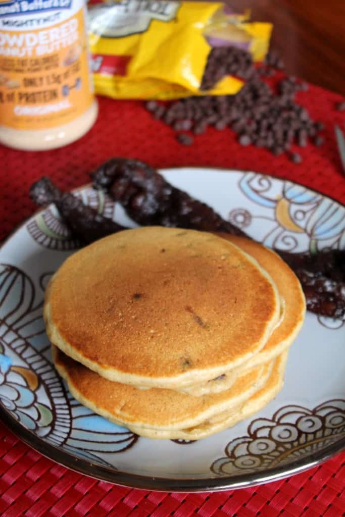 Whole Wheat Peanut Butter Chocolate Chip Pancakes 1