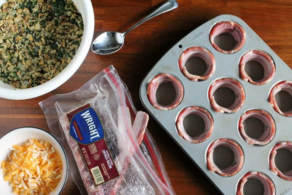 Bacon Wrapped Breakfast Casserole Muffins 1