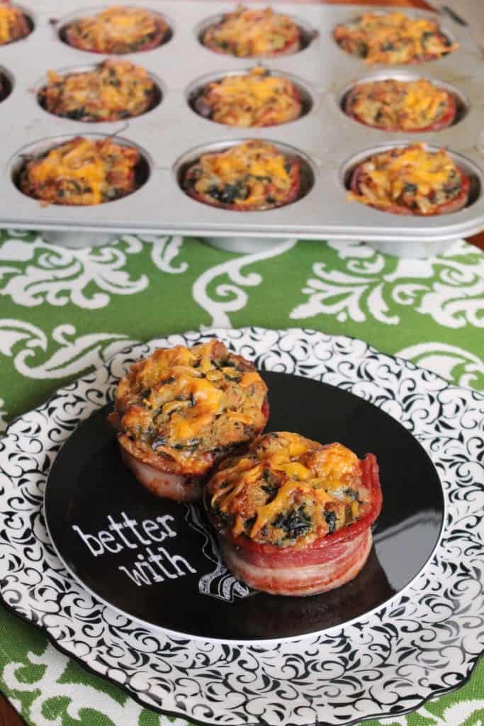 Bacon Wrapped Breakfast Casserole Muffins 2