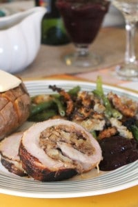 Bacon Wrapped Turkey Breast Stuffed with Pear Hash 3