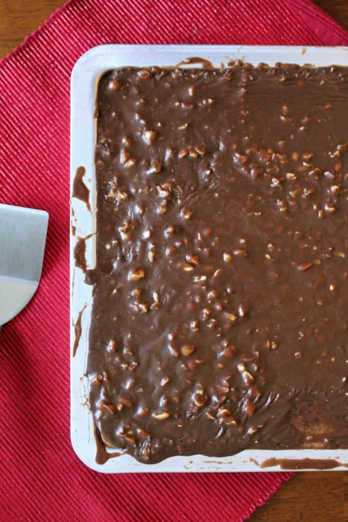 Peanut Butter Sheet Cake with Chocolate Icing 1