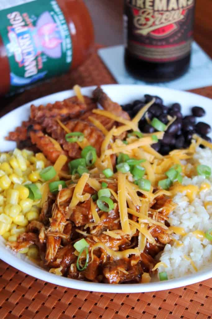 Slow Cooker BBQ Chicken Burrito Bowls 1