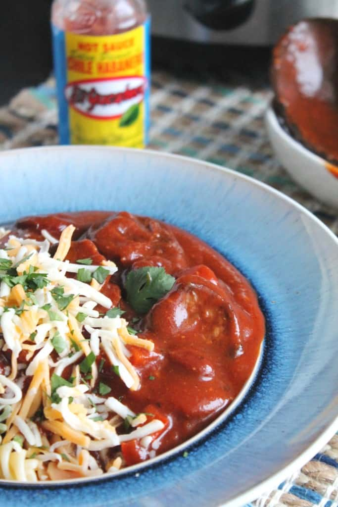 Slow Cooker Spicy Smoked Sausage Chili 4