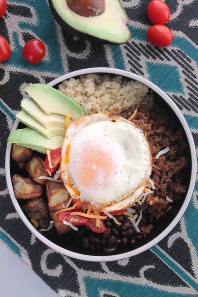 Breakfast Quinoa Burrito Bowls 2
