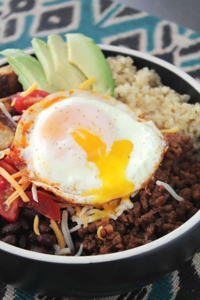 Breakfast Quinoa Burrito Bowls 3