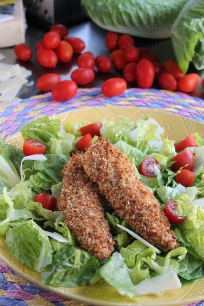 Parmesan Chicken With Salad Recipes — Dishmaps