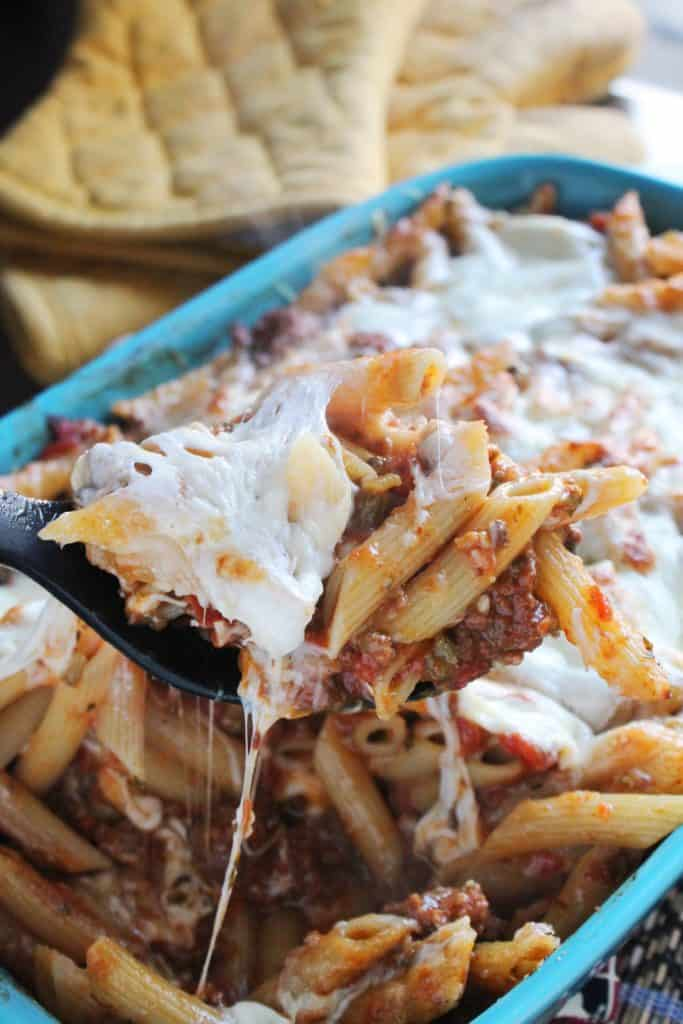 Baked Penne with Slow Cooker Ragu Bolognese 3