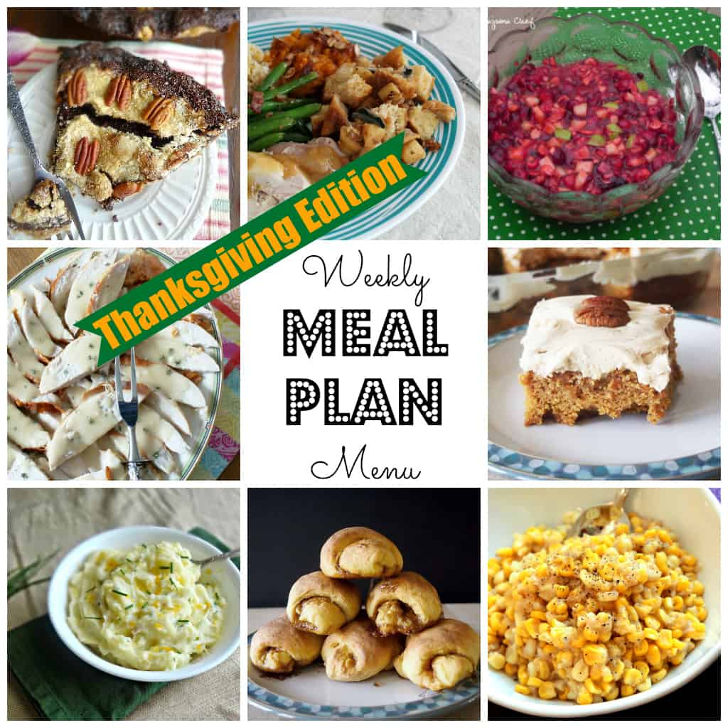 Weekly Meal Plan #38 Thanksgiving-square