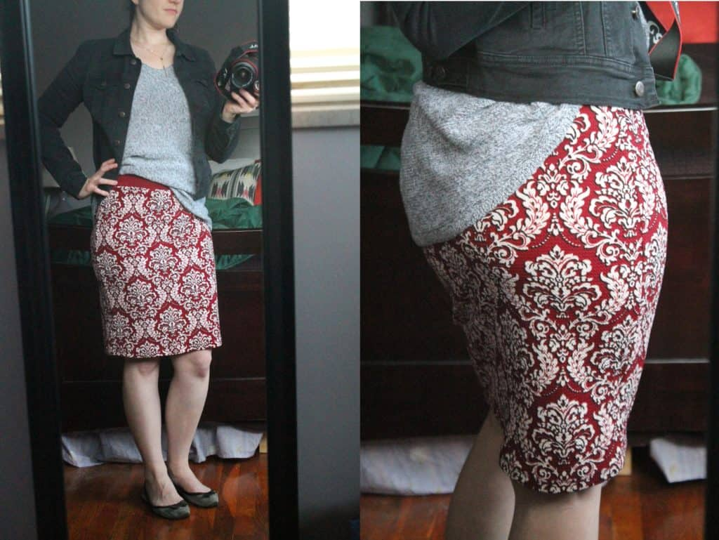 Gilli Jasmine Printed Pencil Skirt