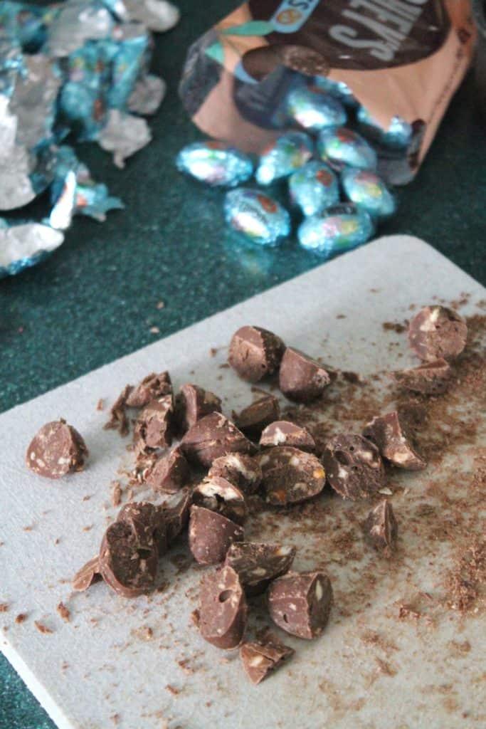 Chocolate Hazelnut & Pretzel Brownie Bricks 2