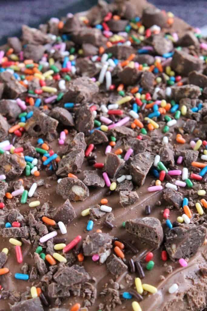 Chocolate Hazelnut & Pretzel Brownie Bricks 4