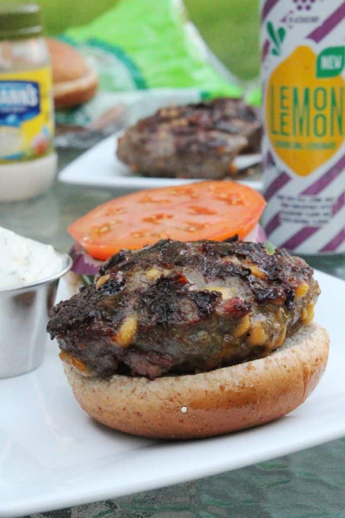 Bacon Cheddar Burger with Jalapeno Aioli 5