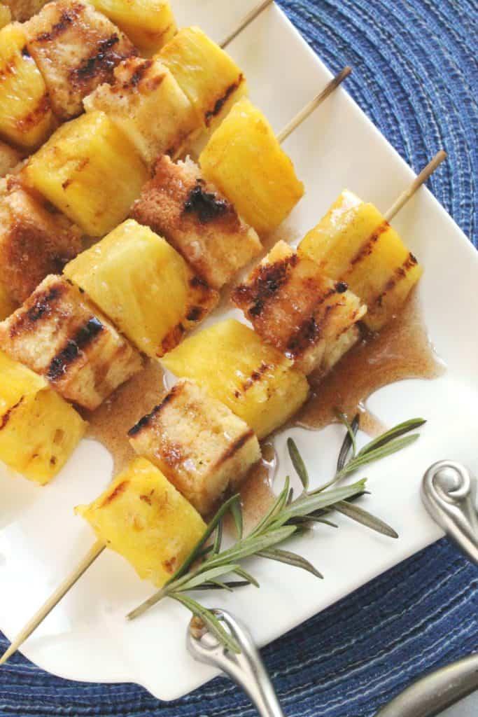 Grilled Pineapple Poundcake Kabobs 1