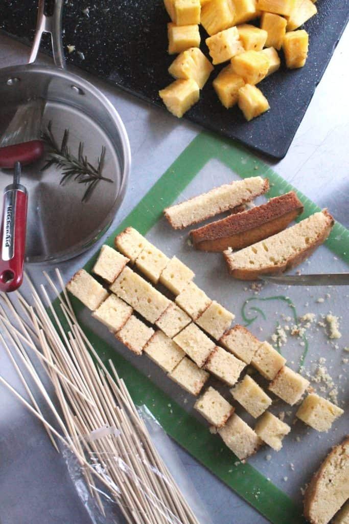 Grilled Pineapple Poundcake Kabobs 2