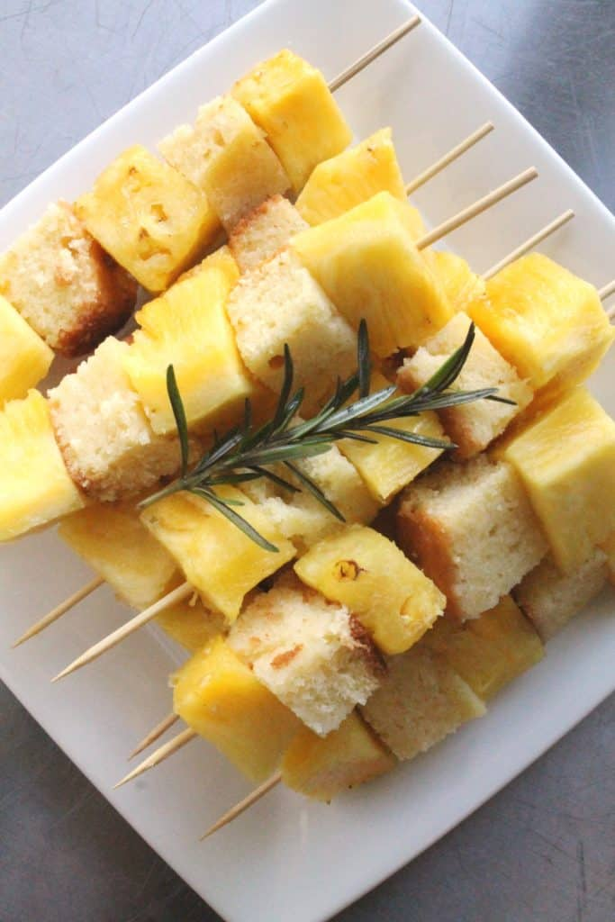 Grilled Pineapple Poundcake Kabobs 3